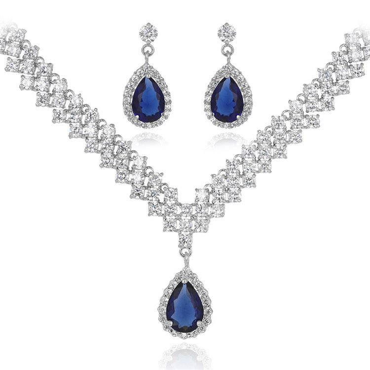 Top grade custom design beauty ladies crystal jewelry