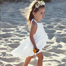 2017 Wholesale child clothing summer ins fashion girls couch back cake dress children clothing Girl Dresses