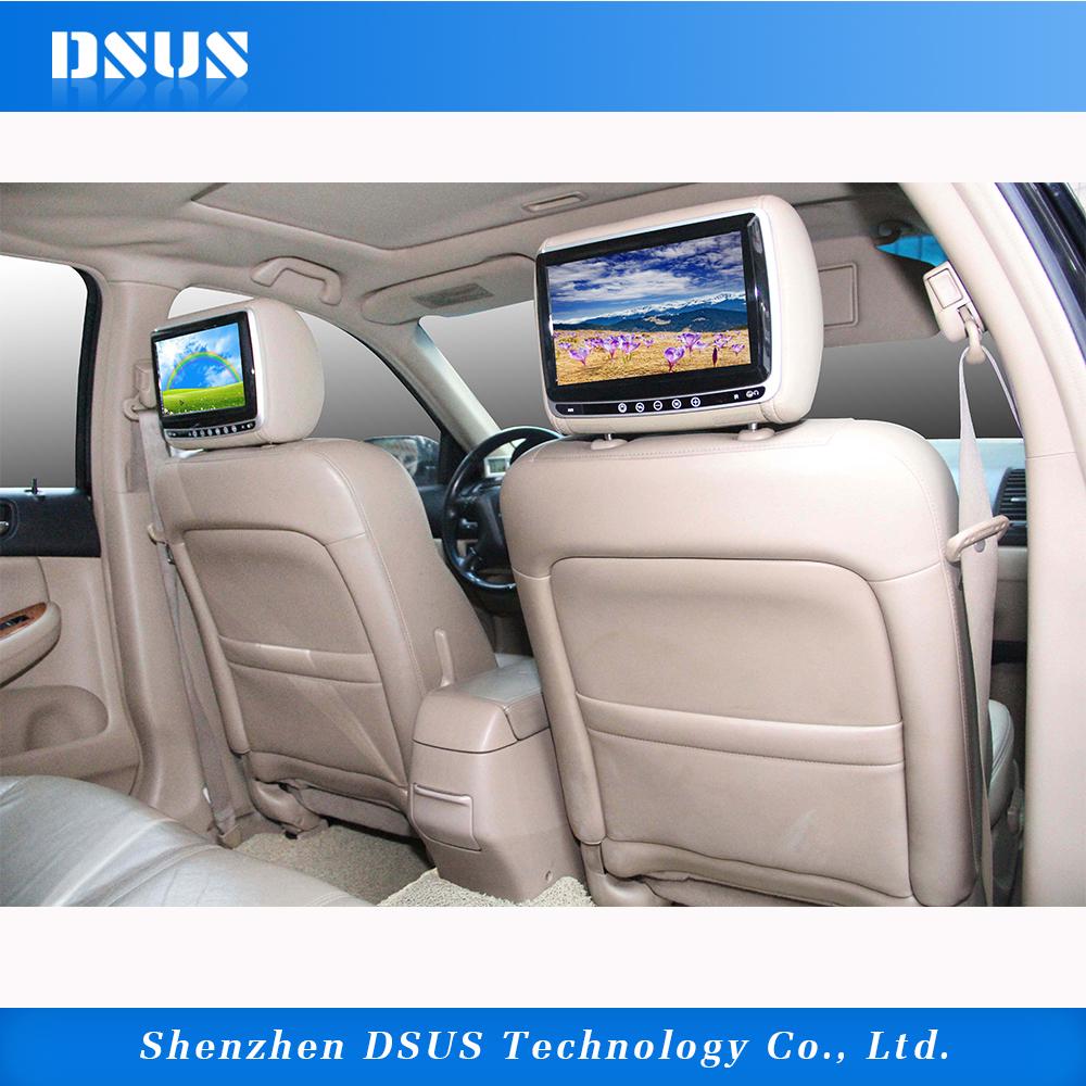 LCD Screen Sony Lens Car Headrest DVD Player USB Monitor 9 Inch DSUS