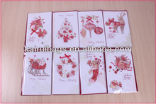 Christmas hand made 3D paper greeting cards wholesale