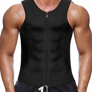 Amazon Hot Zip Type Waist Trainer Vest Neoprene Corset Body Shaper men slimming body shaper shirt for men