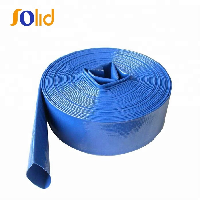 High pressure flexible PVC lay flat water irrigation tubes / hose