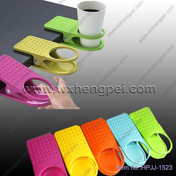 Cute Shape Eco Friendly Material Table Clip Cup Holder