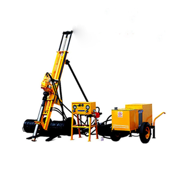 Easy Operation Diesel 12kw Small Hongwuhuan Hammer In Cheap Price Hydraulic Mounted Air Compressor Dth Crawler Drilling Rig