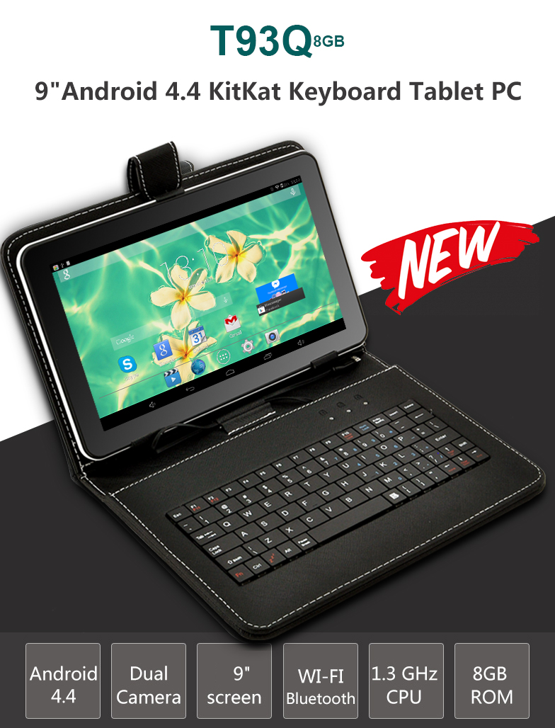 Cheap Wholesale XGODY T93Q 9 Inch Tablet PC Android 4 4 AllWinner A33 Quad  Core 1 3GHz 512MB RAM 8GB ROM WiFi + Keyboard Case Table Pc Tablet 10 From