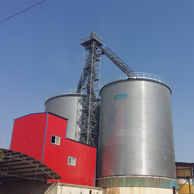 10000 ton flat bottom assembly galvanized steel grain silo with factory price and high quality for sale