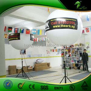 Advertising Inflatable Halogen Lighting Balloon With Adjustable Pole, Inflatable Standing Tripus LED Balloon For Decoration