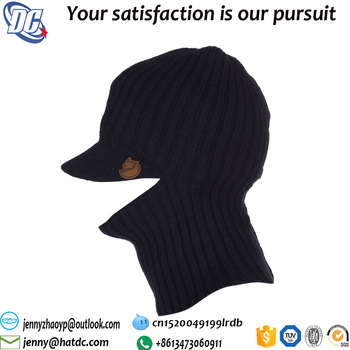 Cheap Sports Beanies Wholesale Knitted Hat Scarf Attached - Buy ... 5dc47b56897