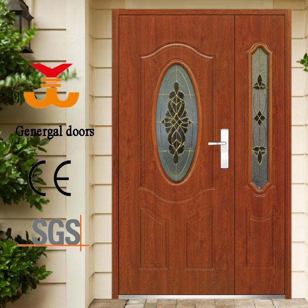 Iso9001 double safety door design models metal doors for for Door models for house