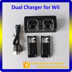 Best Selling Charging Station for Wii With 2pcs 2800Mah Battery Pack