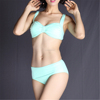 Bowknot swimming wear for women plain color bikini lovely swimwear