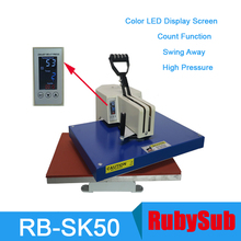 LED Display with Auto-counter High Pressure Heat Press Machine 16x20 for T-shirt Bag Puzzle Glass Wood Rock Metal Photo Printing