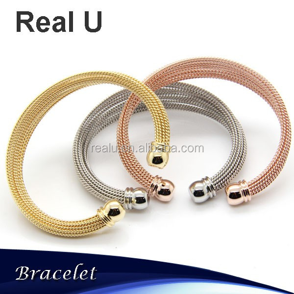 Expandable Multi Wire Bangle Bracelet