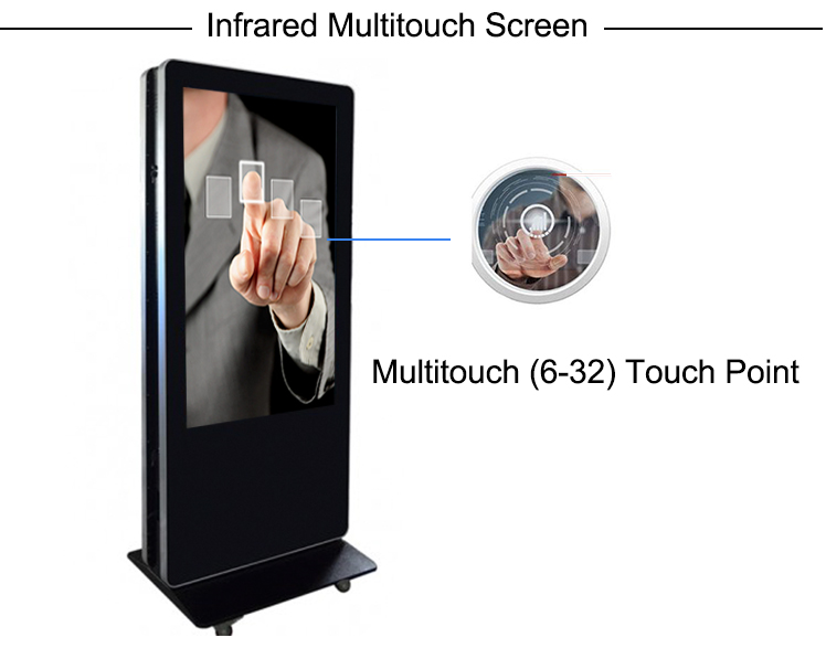 double side lcd digital signage kiosks advertising display floor standing .jpg