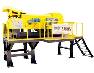 Strong magnetic field eddy current separator