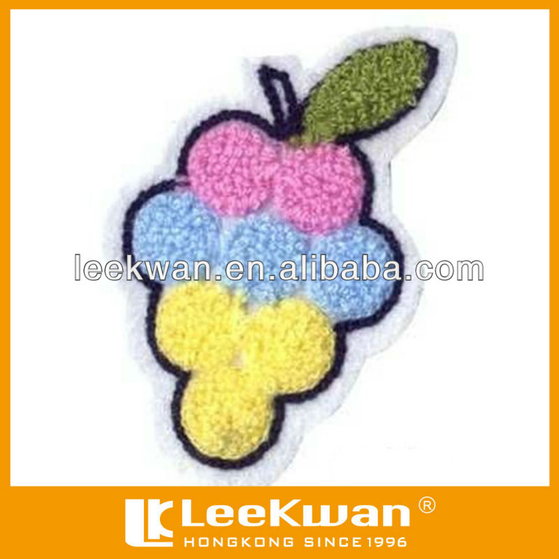 Raisin fruits conception Chenille Broderie Patch