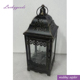 LDJ797 black moroccan rustic metal candle lantern for decoration