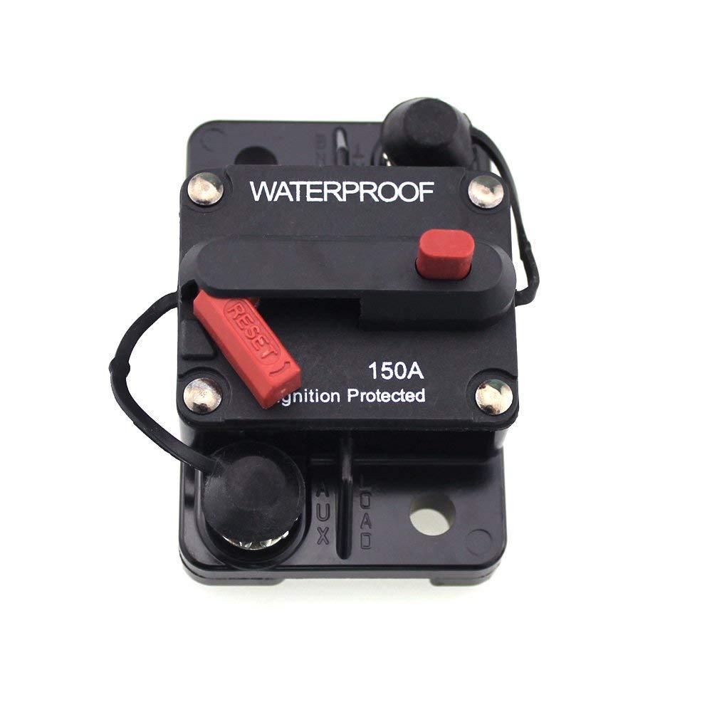 VCB100 24V Boat Trolling Motor 100A Resettable Fuse Circuit Breaker WEATHERPROOF