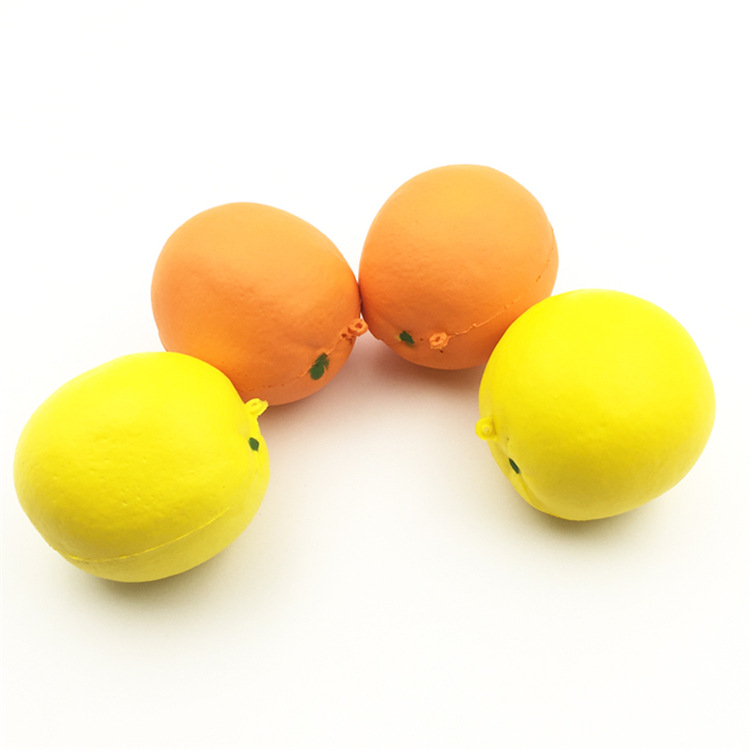 China Factory Supplier High Quality Soft Slow Rising Keychain Kids Mini Lemon Fruit Squishy Toys