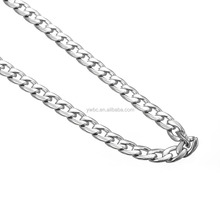 Silver Stainless Steel Figaro Link Chain Necklace (3-7MM Available) jewelry