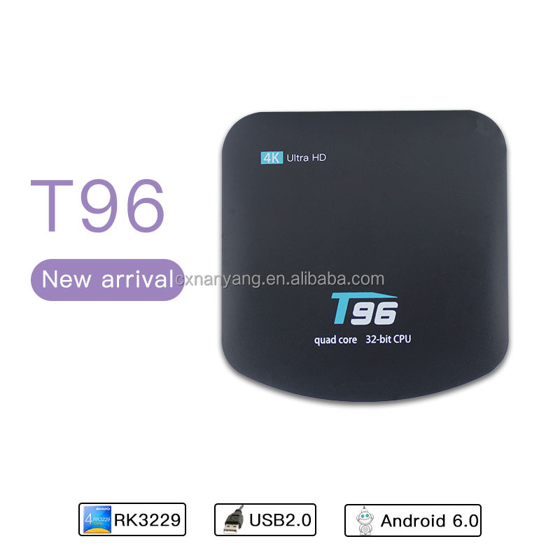 New proudct T96 Android 6.0 Tv <strong>Box</strong>, RK3229 Quad Core <strong>Stb</strong>, 1G/8G 4K WiFi HD 1080P USB2.0