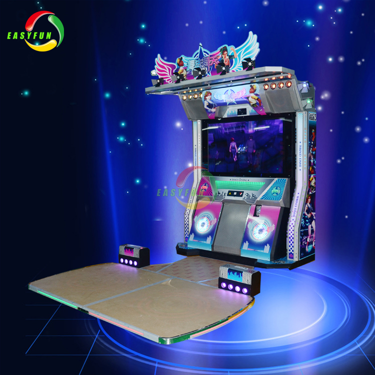 Coin operated amusement park electronic dance central music game machine