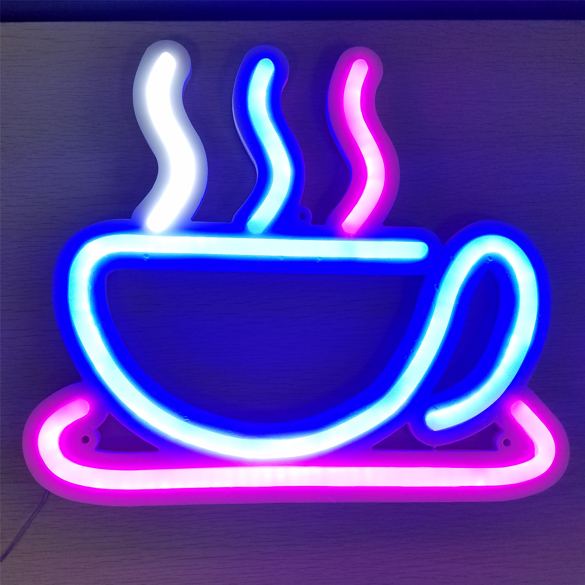 12 V 24 V Iklan Outdoor Indoor Dekoratif Programmable Kopi Murah Membuka Bir Bar Toko Pantai Custom LED Buka Neon lampu Sign