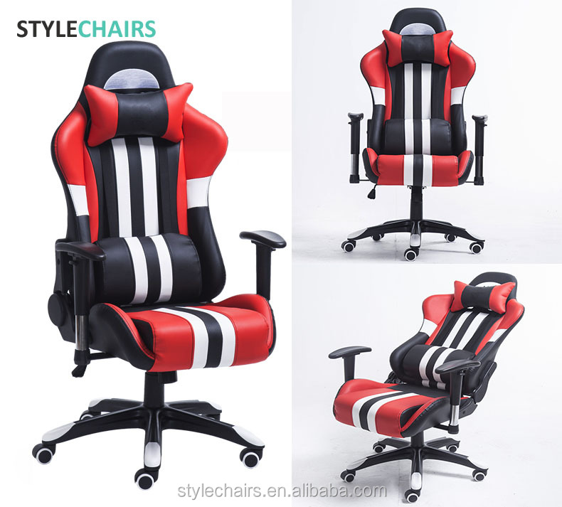 2020 Best OEM ODM Computer PC Game Gamer Massage Factory Racing Silla Leather Gaming Chair Gaming Office Chair