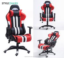 2018 Best OEM ODM Computer PC Game Gamer Massage Factory Racing Silla Leather Gaming Chair Gaming Office Chair