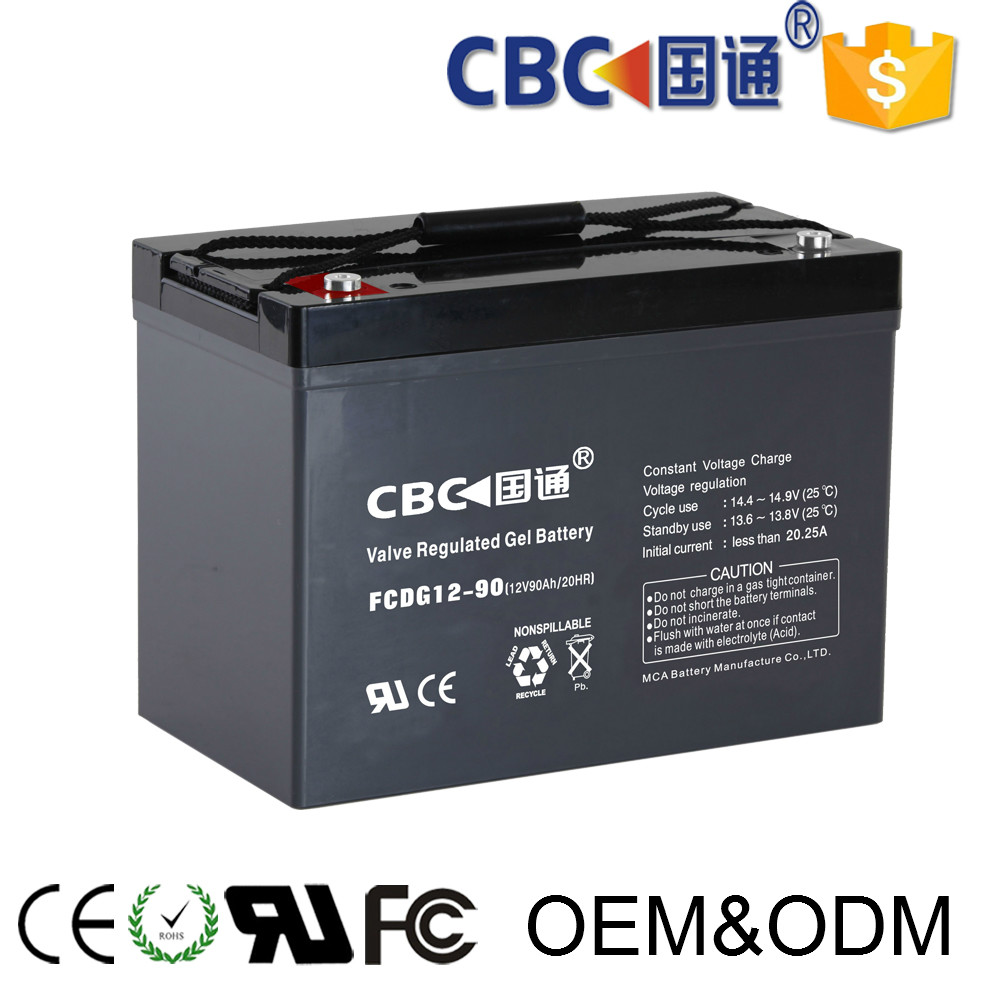 CBC Guotong deep cycle gel battery 12v90ah for ups