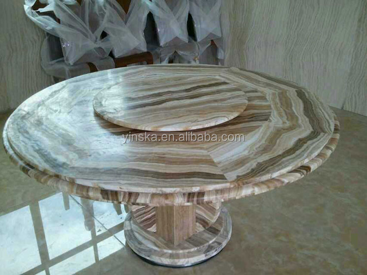 Yinska 8 seater round marble dining table with lazy susan for 10 seater marble dining table