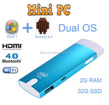 World cheapest fanless compute stick dual OS quad core 2G/32G mini pc