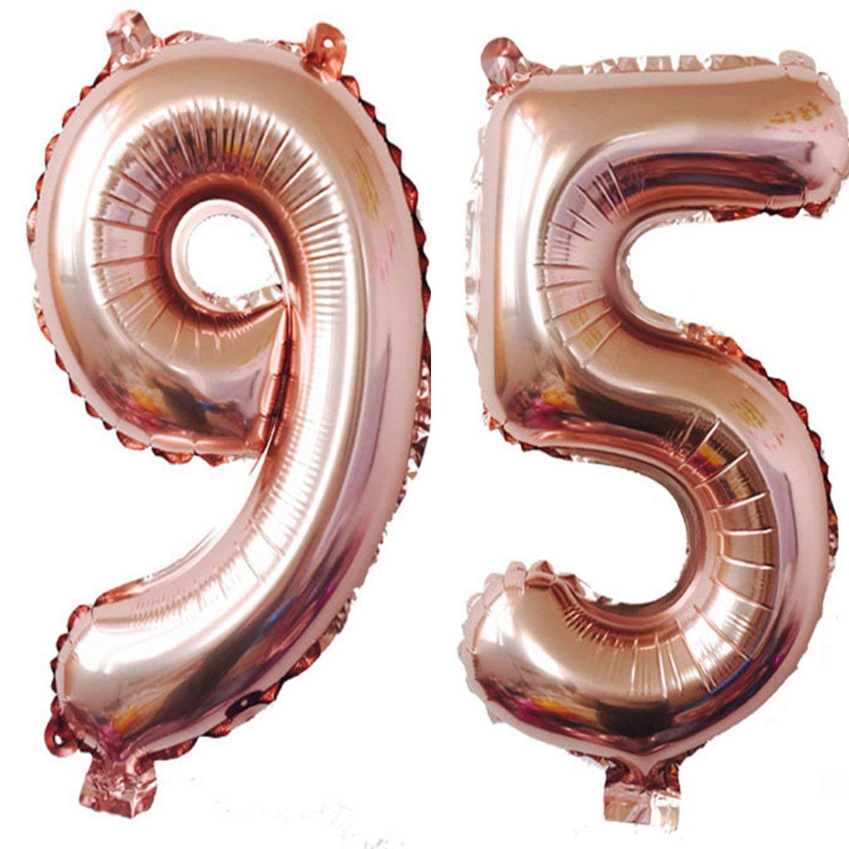 Get Quotations 40inch Rose Gold Foil 95 Helium Jumbo Digital Number Balloons 95th Birthday Decoration For Women