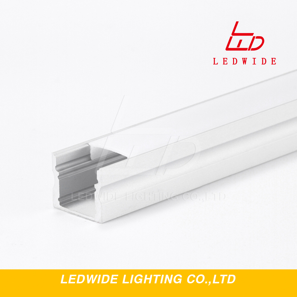 IP65 1m 60 LED recessed mount profile for drywall mounting