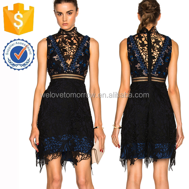 High Neckline Sleeveless Deep V Lace Up Tassel Hem Waist Summer Mini Dresses Manufacture Wholesale Fahsion Women Apparel(TF0609D