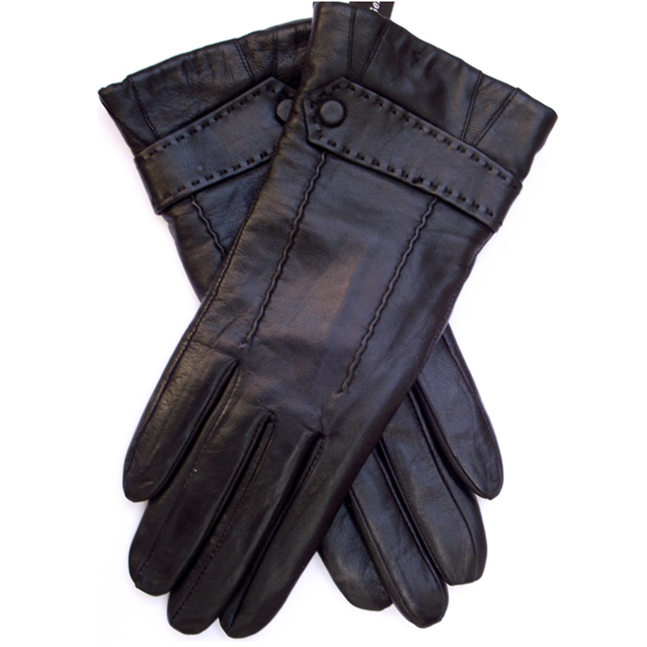Ladies fashion sheepskin leather gloves