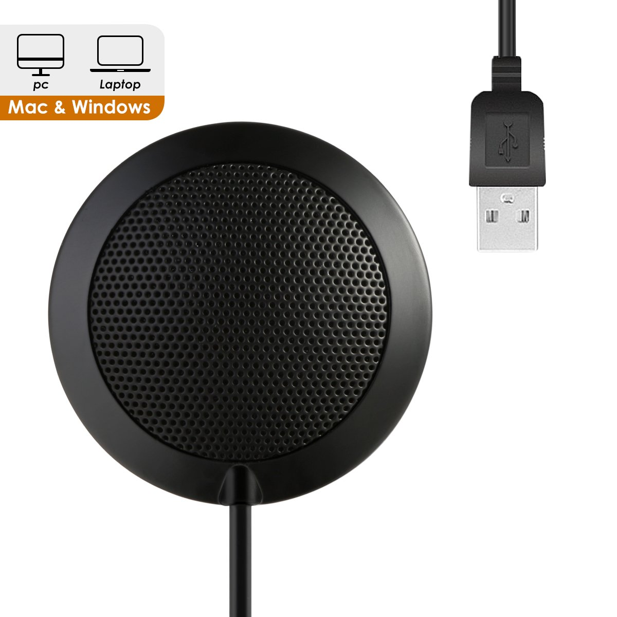 USB Microphone for Computer,SOONHUA PC Laptop Condenser Omnidirectional Mic Desktop Conference Microphone for Recording, Video Meeting, Gaming, Skype Chatting, VoIP Calls with 360°10' Pickup Range