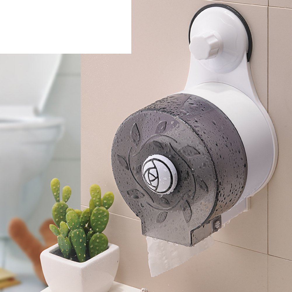 Creative suction cup waterproof bathroom tissue box/ toilet tissue holder/Toilet tray/Tray/ volume box/ toilet roll holder-E