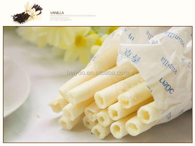 Rolled sweet toasted wafer sticks cone machine for instant Indonesia snack