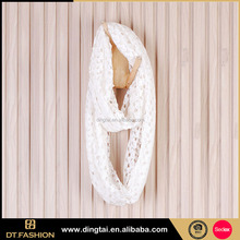 Hollow printed dubai muslim pure color scarf