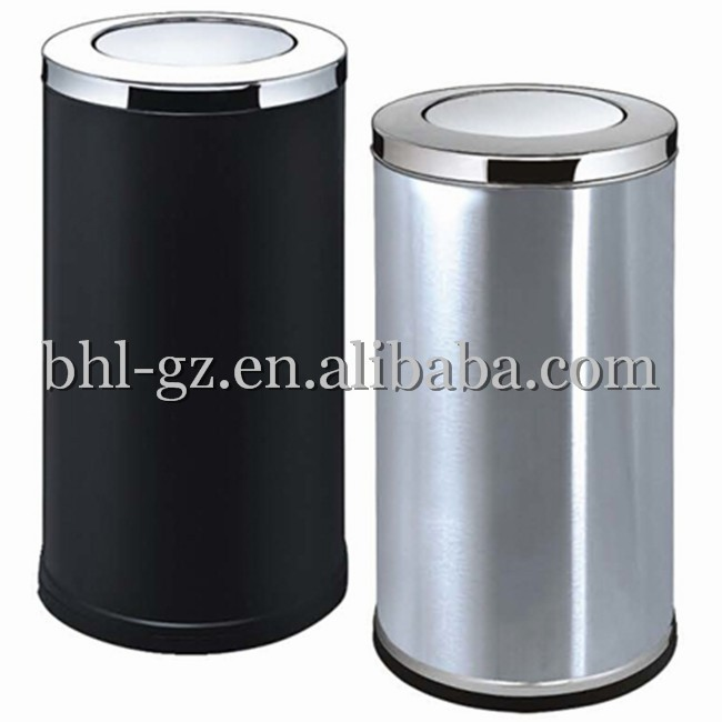 en ligne en gros h tel hall int rieur conception en acier inoxydable ronde recyclage poubelles. Black Bedroom Furniture Sets. Home Design Ideas