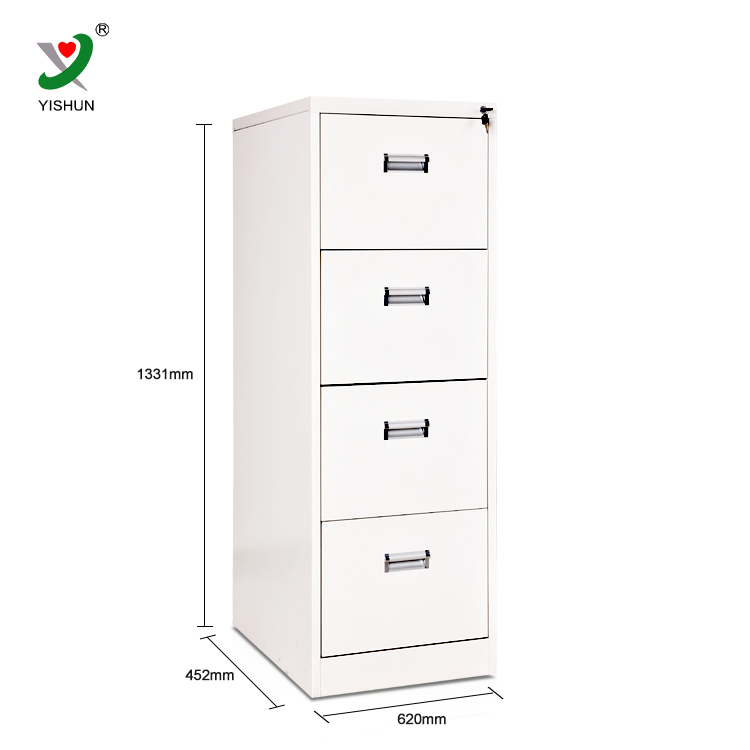 Office Furniture Modern 4 Drawer Steel Filing Cabinet Pulls Metal File  Cabinet