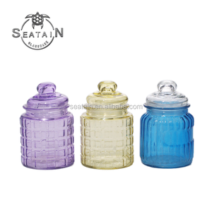 hot selling color glass mason jam jar with lid