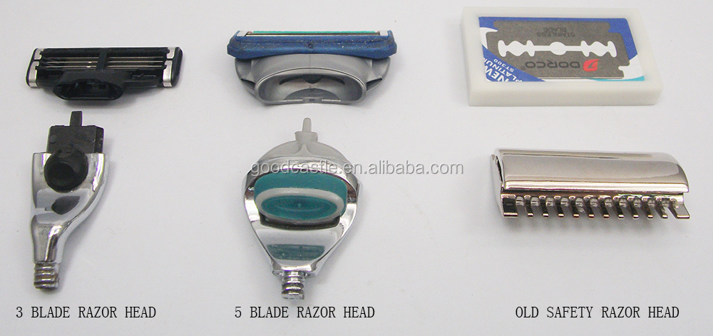 shaving razor set triple razor blades for mens razor black acrylic handle