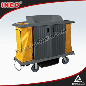 Plastic Hotel Room Service Housekeeping Cart/Janitorial Cart/Housekeeping Carts Linen Trolley Service Cart