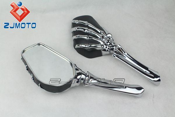 Motorcycle Side Mirrors Skull Mirror Billet Skeletal