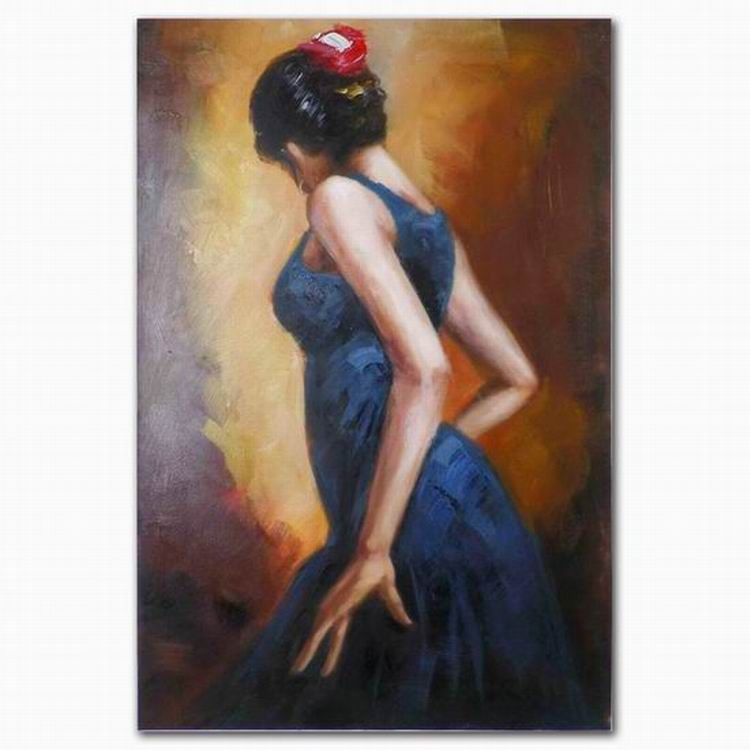 DEYI Modern lady art flamenco dancer canvas oil painting for wall hanging decoration