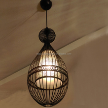 Popular Simple Pendant Lights for Dining Room/Single-Lamp Industrial Pendant Lamp Home Decoration Lights (P0907-1 BK)