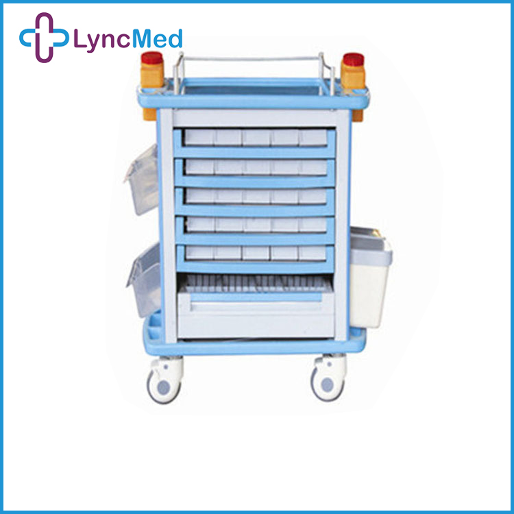 hospital computer cart hospital emergency abs trolley laptop hospital trolley wheel caster medical carts