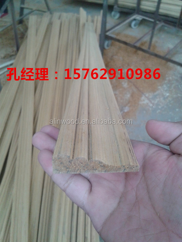Decorative wood <strong>moulding</strong> with groove,made in china!